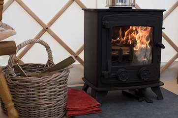 The wood-burner makes Rosewood super cosy whatever the weather.