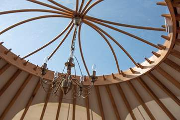 It wouldn't be a yurt without the ultimate traditional feature!