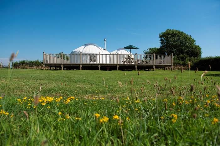 Cottages near Dunsdon National Nature Reserve