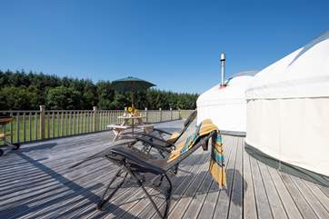Complete with sun loungers, the deck is perfect for relaxing on.