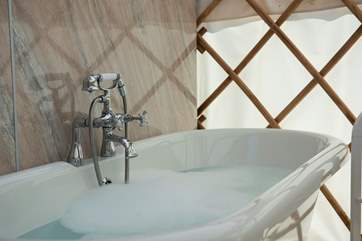 Why not treat yourself to a relaxing bubble bath - you are on holiday, after all!