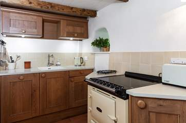 The kitchen is small but very well equipped.
