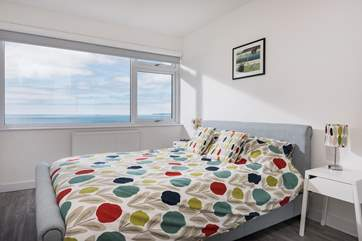 The ground floor bedroom has a 6ft 'zip and link' bed which can also be made up as two 3ft single beds on request.