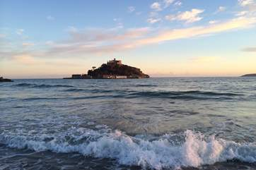 St Michael's Mount at Marazion is a short drive away.