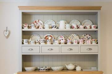 The Owner's collection of Emma Bridgewater china not only looks good on the dresser but is also lovely to eat and drink out of.