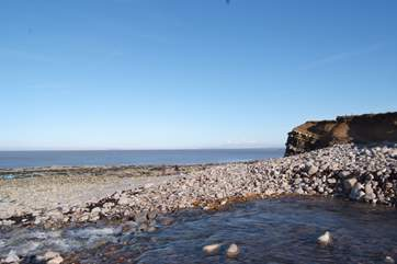 This is the Jurassic beach at Kilve, where the Quantocks meet the coast.  A stunning place for a visit.