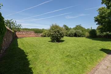 Another view of the fabulous space in the garden. An ideal safe place for a great run around for children or of course four legged friends.