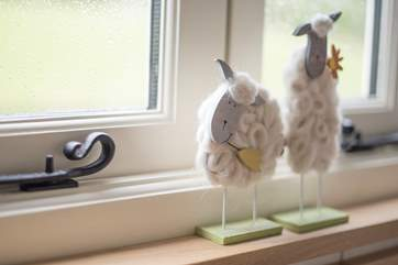 A shepherd's hut would not be complete without sheep!
