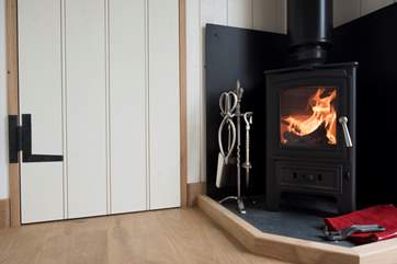 The wood-burner will keep you very warm and toasty.
