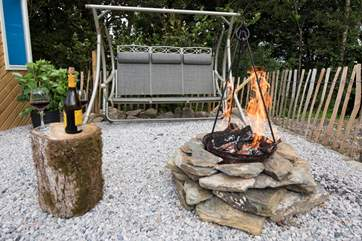 With your own firepit too.