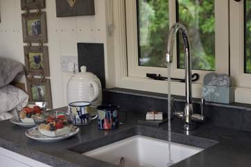 And hot running water to your kitchen sink!