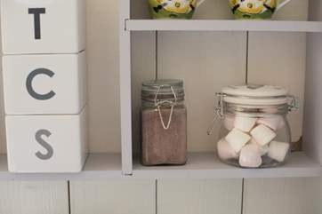 With lots of clever storage spaces.