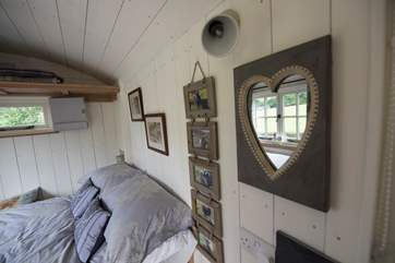 The gorgeous We Two Shepherd's Hut has a beautifully fitted interior.