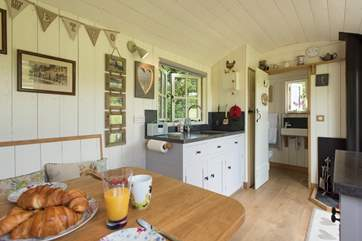 Every little detail has been thought of in this bespoke shepherd's hut.
