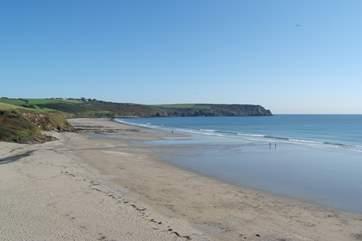 Pendower beach is a short drive away.