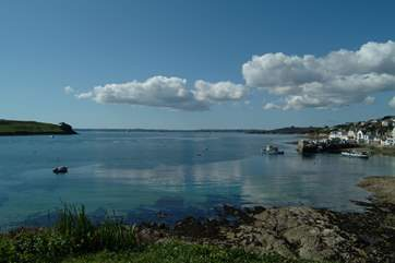 Looking from St Mawes towards Falmouth Bay.