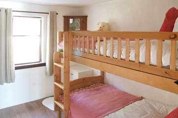The ground floor bunk bedroom is great for the youngsters.