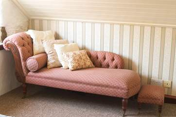 And a chaise longue for relaxing on.