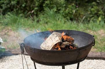 You can also use the fire-pit to keep you warm outside too.