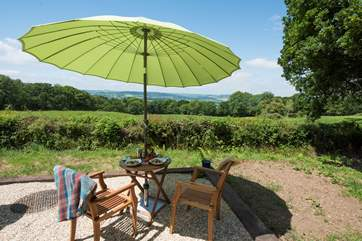 Perfect for al fresco dining taking in the far reaching views over the Axe Valley.