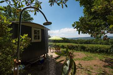 You get to experience an outdoor shower with a view (but don't forget there's the en suite shower-room too!).