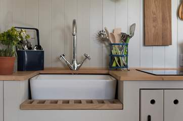 The kitchen is fully equipped with everything you will need including a toaster, kettle, two-ring hob, combination oven and fridge.