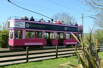 This tram travels betwen historic Colyton and Seaton following the Axe estuary through two nature resreves.