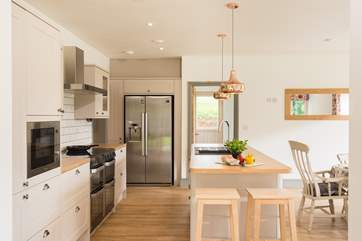 The fabulous kitchen/diner leads through to the utilty-room.