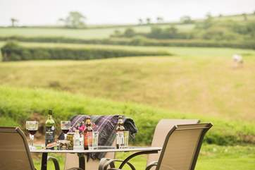 Fire up the barbecue or spend time over a drink or two in the garden.