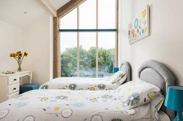 This bedroom has 'zip and link' beds which can also be made up as a 6 foot double bed on request.