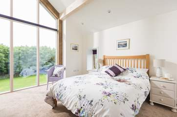 The double bedroom, all the rooms are light,  spacious and beautifully furnished. (blinds are now fitted to all of the windows)