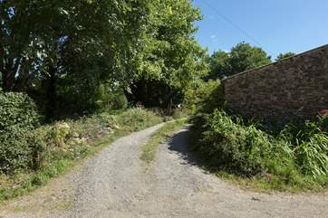 This is the entrance to Little Barwick, you will pass the owners' farmhouse and the cottage is beyond it with plenty of parking.