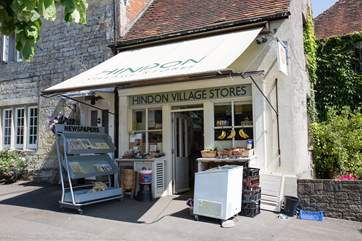 The village shop and Post Office is run as a community store, stroll along for fresh croissants and local produce.