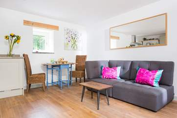 The open plan living-room is light, spacious and very comfortable.