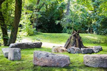 The fire-pit, strike a match and take a seat under the stars.