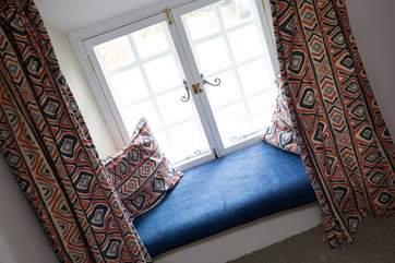 The window seat in bedroom 2.