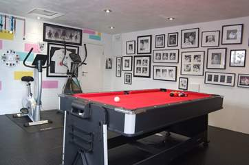 The games room available to guests throughout the year.
