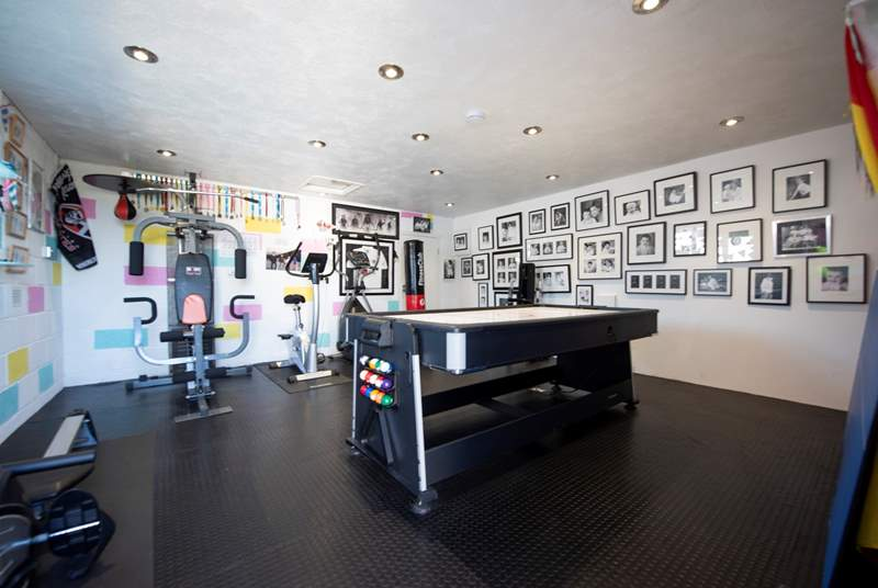 The games room/gym.