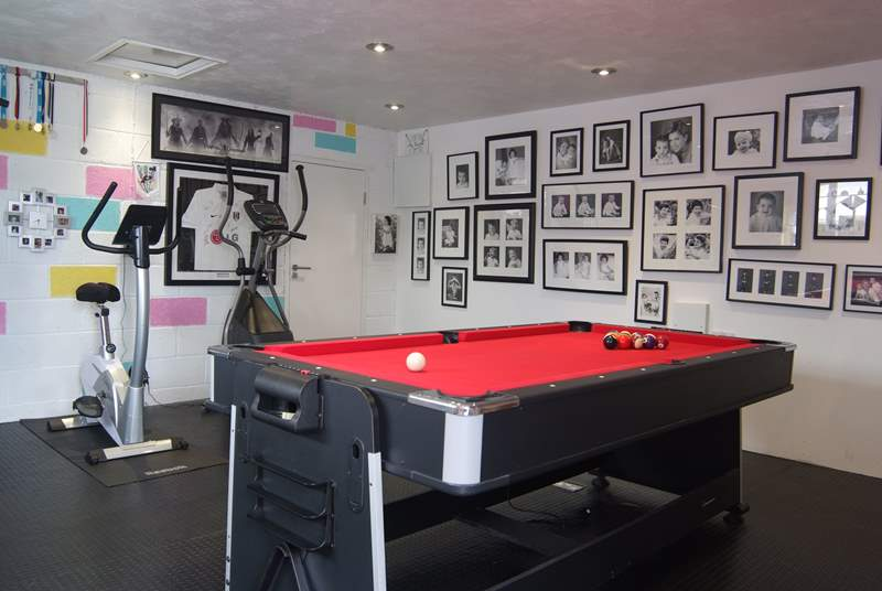The games room available to guests.