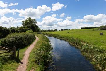 You can walk or cycle for miles along the tow path. You will need to cross over a little bridge but access is very nearby - a short walk through the owners' land from the property.