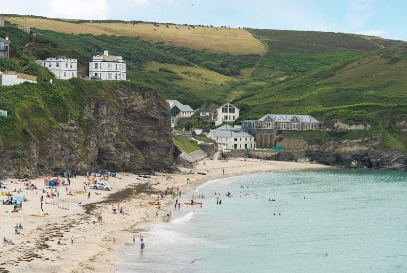 The beach at Portreath as seen from the house.