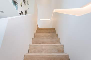 Even the staircase is a thing of beauty.