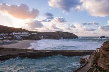 The beach at Portreath is fabulous at any time of the year (taken in January)