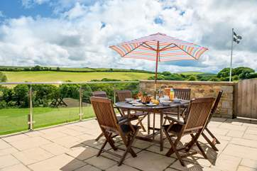 You can enjoy more of those countryside views from the patio-area.