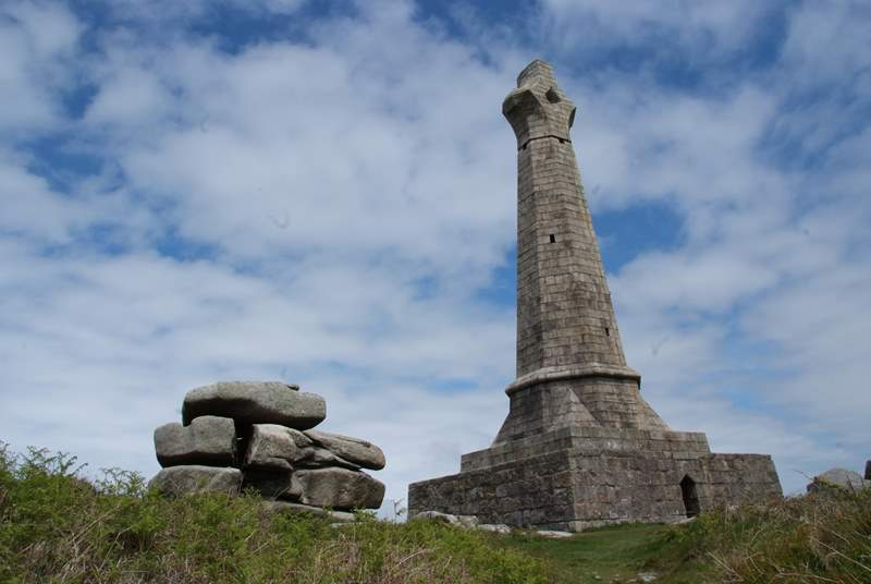 The monument on the top of Carn Brea, the views from up on the hill are stunning on a clear day.