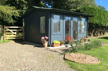 The cabin is double glazed, insulated and has full plumbing and electricity.