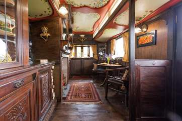 Showman's Wagons used to be known as 'palaces on wheels' and you can really see why at Sanger's.