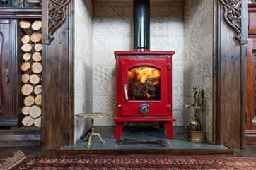 The multi-burner will keep you cosy whatever the weather.