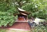 The safari tent bedroom is super romantic!