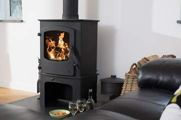 This lovely wood-burner will keep you toasty warm in cooler weather.